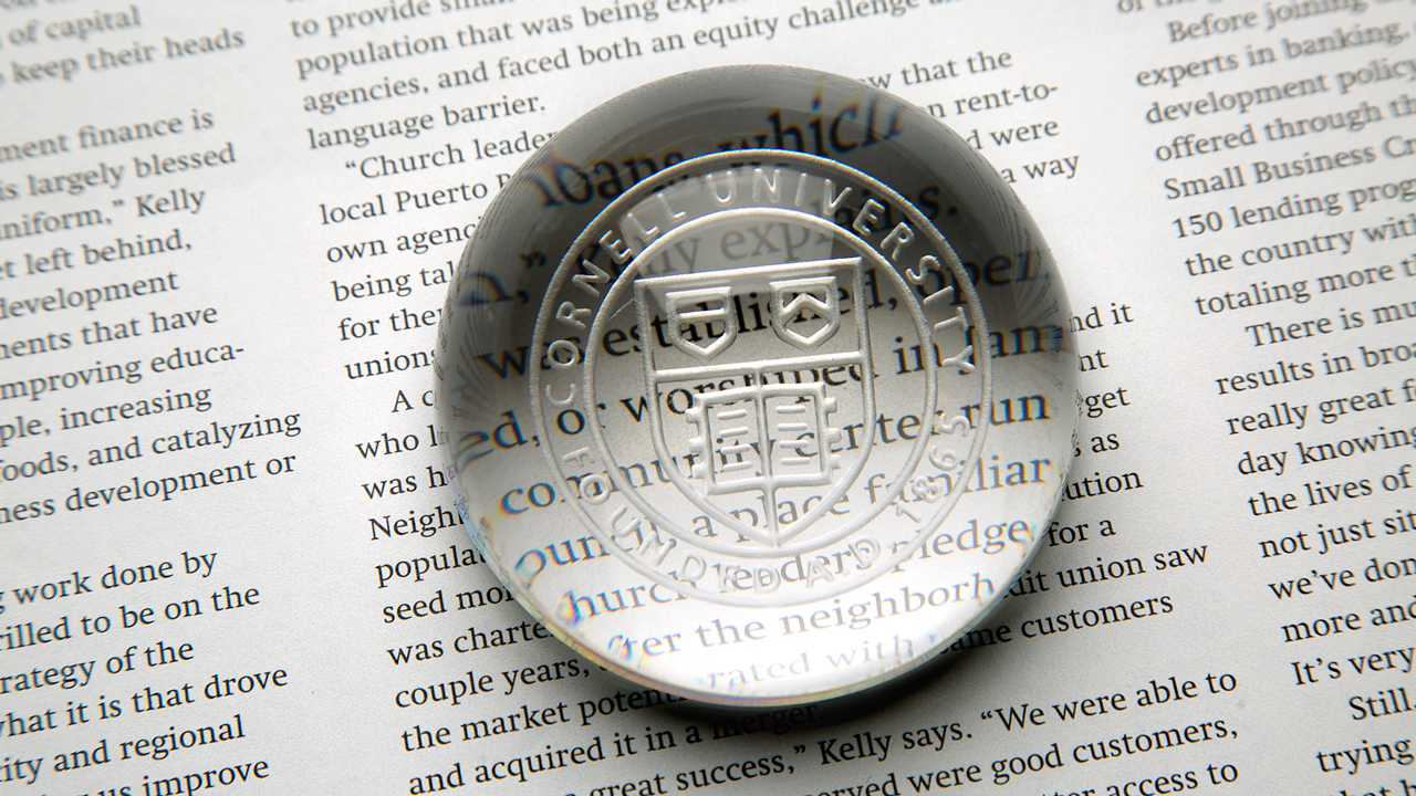 Paperweight with the Cornell seal