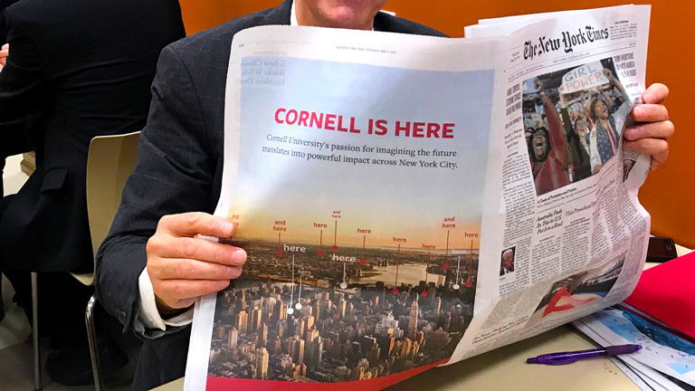 Cornell in New York City - New York Times - May 2017