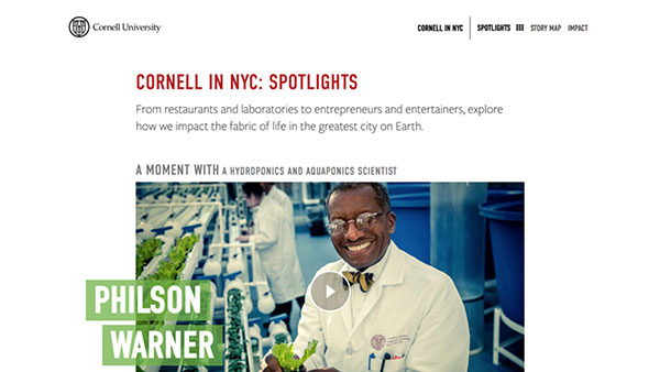 Cornell in NYC | Spotlights
