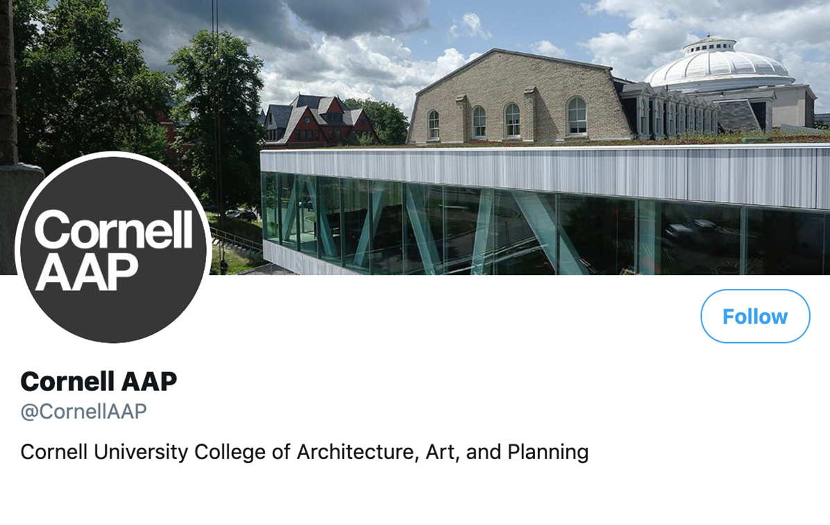 Social Media Example | Cornell University Art, Architecture and Planning