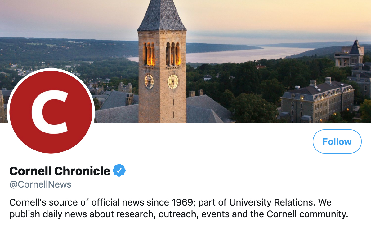 Social Media Example | Cornell Chronicle