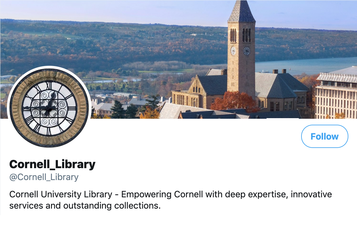 Social Media Example | Cornell_Library
